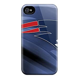 DannyLCHEUNG Iphone 4/4s Protector Hard Phone Cases Unique Design Stylish New England Patriots Pattern [dyT9310FnPa]