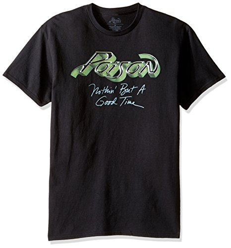 Bret Michaels Costume (Poison Men's Nothin But A Good Time T-Shirt, Black,)