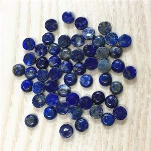 Calvas Gazelle 2019 Hot Good Quality Assorted Fashion Natural Stone Round Cabochon 4mm 6mm Stone Beads 50pcs Wholesale - (Color: Lapis Lazuli, Item Diameter: 4MM Round)