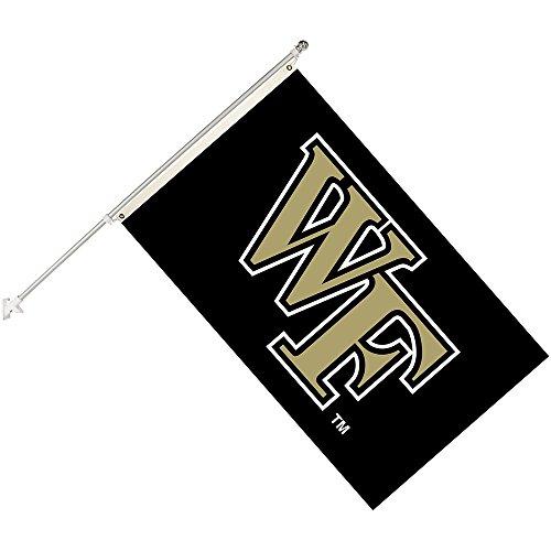 Seasonal Designs, INC. NCAA Wake Forest Demon Deacons Collegiate Helmet Flag Kit, Black, Size 3 x 5 ()