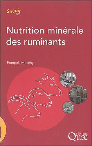 Lire Nutrition minérale des ruminants pdf