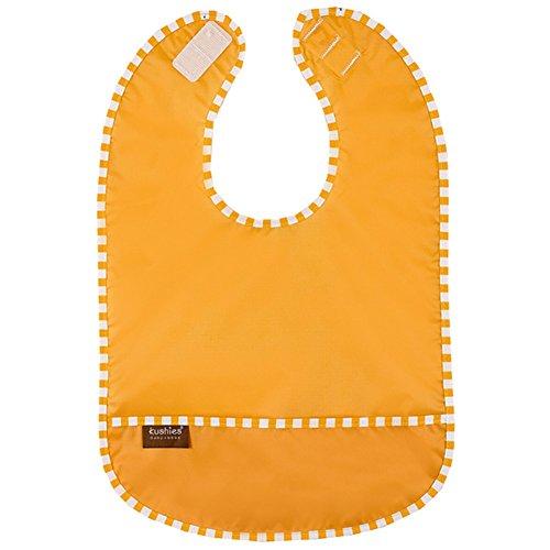 - Kushies Taffeta Waterproof Pocket Bib - Newborn (Orange)