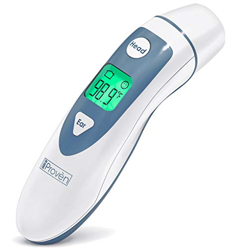 Ear Thermometer with Forehead Function - Fever Thermometer for Kids - Temporal Thermometer - Digital Thermometer Medical - Approved Infant and Kids Thermometer - iProven DMT-489