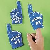Dozen Blue Mini Foam Fingers
