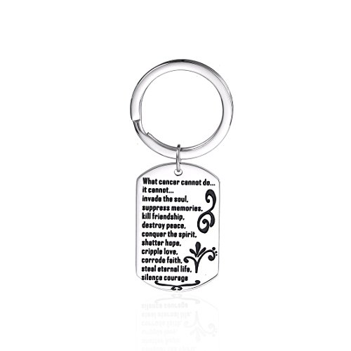 Anlive What Cannot Do Cancer Awareness Dog Tag Keychain (Keyring) ()