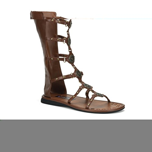 [Men's Roman Medallion Sandle (xlarge (14), brown) [Apparel]] (Trojan Man Costumes)