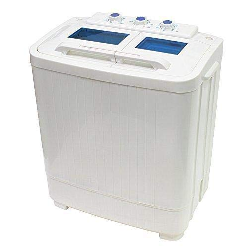 Portable Compact Washer and Spin Dry Cycle with Built in Pump (33L Washer & 16L Spin Dryer) (Front Load Washer Fabric Softener Not Draining)