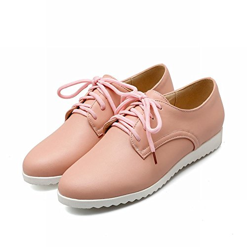 Latasa Women's Flat Lace Shoes Pink Oxford up pUTpwrqx