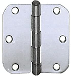 Cal Royal RH355 Plain Bearing Hinge with 5/8-Inch Radius, 3.5 by 3.5-Inch, Antique Brass
