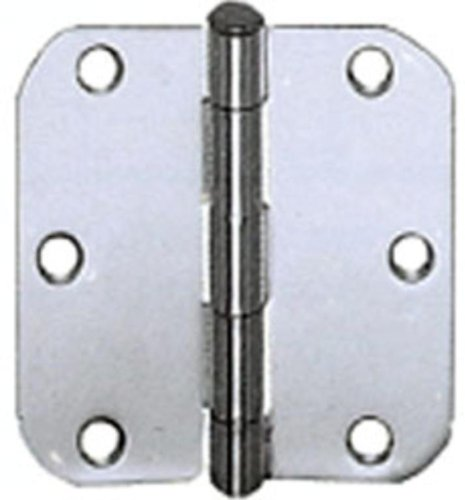 (Cal Royal RH4026 Residential Plain Bearing Hinge with 5/8-Inch Radius, 4 by 4-Inch, Polished Chrome )