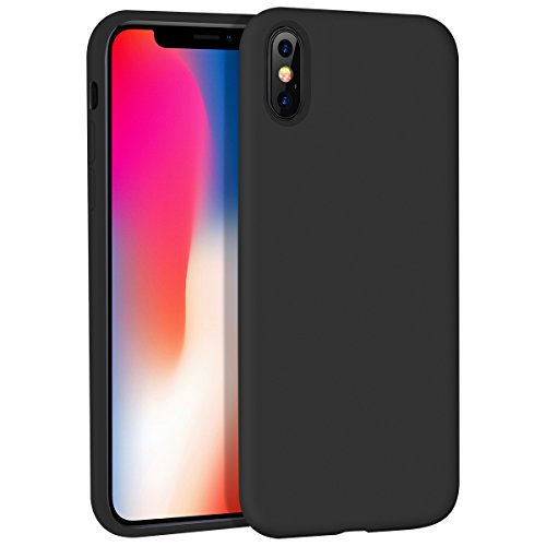 iPhone X Case, Liquid Silicone Gel Rubber Matte Anti Scratch Minimalist Thin Ultra Slim Case Fit with Soft Microfiber Lining Shock Absorbing Comfort 3D Full Protective Cover for iPhone X 10 (Matte Silicone)