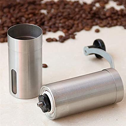 Color:5x5x20cm Jimin/_Top Kitchen Tools Stainless Steel Silver Coffee Grinders Mini Hand Manual Handmade Coffee Bean Spice Grinders Mill Grinder