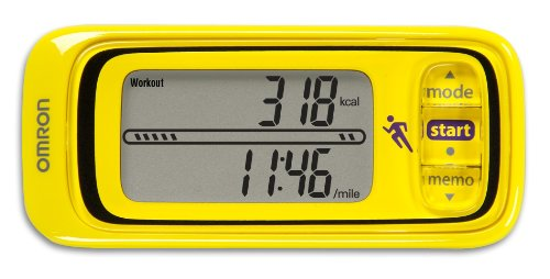 Pedometer Battery Omron (Omron HJA-301 Pace and Distance Tracker, Yellow)