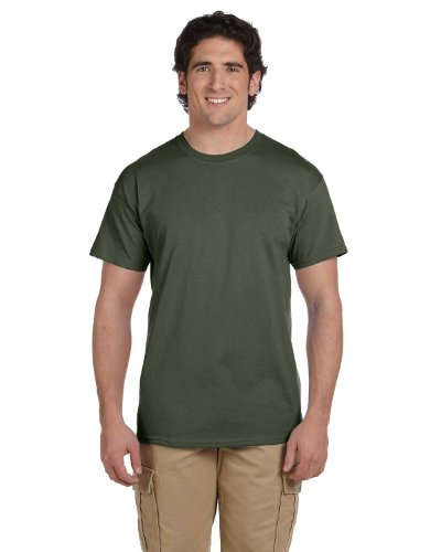 (Fruit of the Loom 5 Oz, 100% Heavy Cotton HD T-Shirt, 2XL, Military Green )