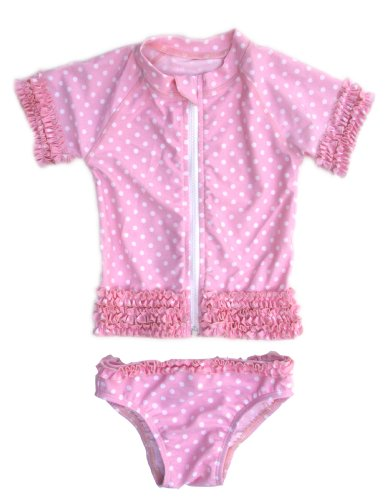 Sassy Surfer - Infant Rash Guard Swimsuit Set with SPF by SwimZip
