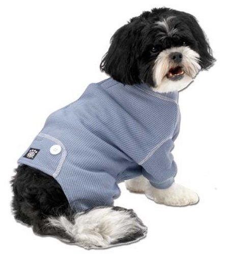 PetRageous Cozy Thermal Pajamas for Pets, X-Small, Blue w...