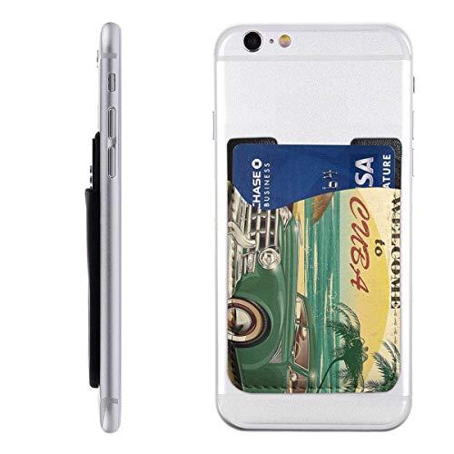 1950 Backpack - PHONECARD48 Beach Tapestry Ocean 1950s Mobile Phone Card Package PU 2.4