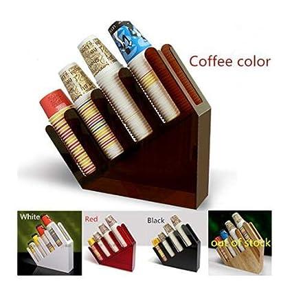 Vaso de papel dispensador de tapa soporte dispensador de bebida café Cafe hogar boda fiesta Buffet