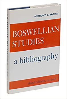Boswellian Studies: A Bibliography (Eighteenth-Century Scottish Studies Series)