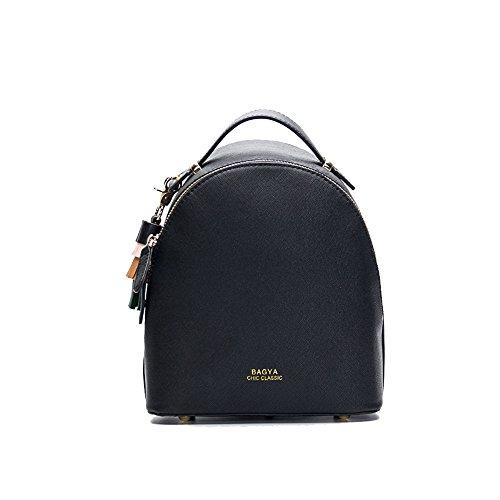 Tassel Black Mini Fashion black 5x24cm Fresh 20x10 Female Wild Backpack Backpack New Small Tide 0xFUaWHqw