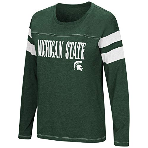 - Colosseum Women's NCAA-Game of My Life-Dolman Long Sleeve Tee-Michigan State Spartans-Green-Medium