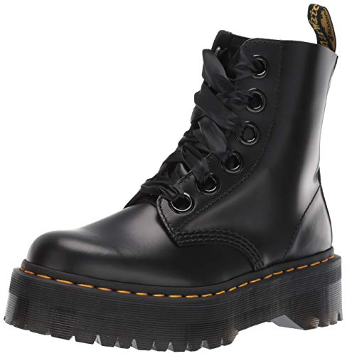 Dr. Martens Women's Molly 6 Eye Boots, Black, 8 Medium US