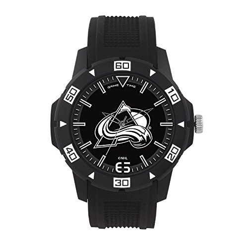 (NHL Colorado Avalanche Mens Automatic Series Wrist Watch, Black, One Size)