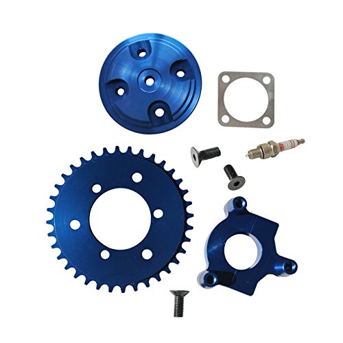 Northtiger Modified CNC 36T Sprocket Blue & Cylinder Head Fit 80cc Motorized Bicycle ()