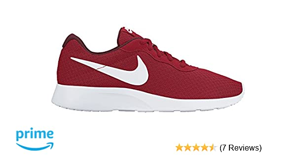 brand new 8e45c 72f5f Amazon.com   Nike Men s Tanjun Running Sneaker University Red White-Team  Red 9.5   Fashion Sneakers
