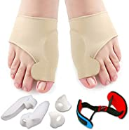 Bunion Corrector & Bunion Relief Protector Sleeves Kit - Treat Pain in Hallux Valgus, Big Toe Joint, Hamme