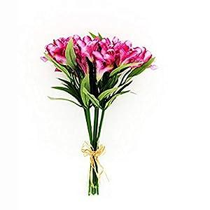 MARJON FlowersArtificial Alstroemeria Bundle Pink x 5 Stems 12