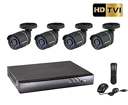 LaView 4 Channel 1080P/720P HD DVR Surveillance System with 1TB HDD and 4 HD