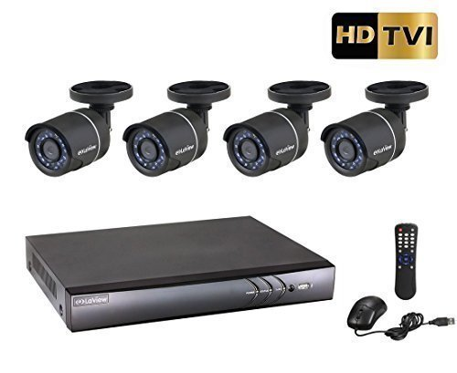 LaView 4 Channel 1080P/720P HD DVR Surveillance System with 1TB HDD and 4 HD 720P Night Vision Outdoor Bullet Security Cameras, Remote View Ready, LV-KH944FT4A8-T1