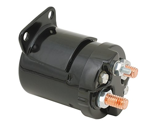 ACCEL 40111B Starter Solenoid Motorcycle Fits 1967-80 Sportster/1984-88 Softail/1971-86 Dyna/1965-84 Touring Most 4 And 5 Speed Applications Black  Starter Solenoid