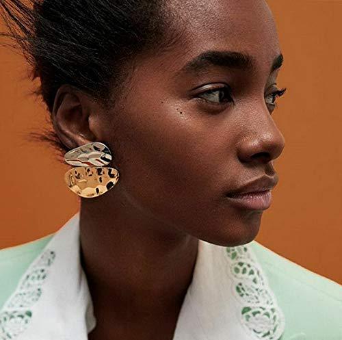 Monowi Boho Women Simple Geometric Circle Ear Stud Drop Dangle Earrings Fashion Designs | Model ERRNGS - 4719 - Emerald Earrings Crislu