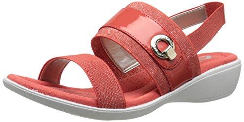 Anne Klein Sport Femmes Hida Tissu Wedge Slide Sandale Orange