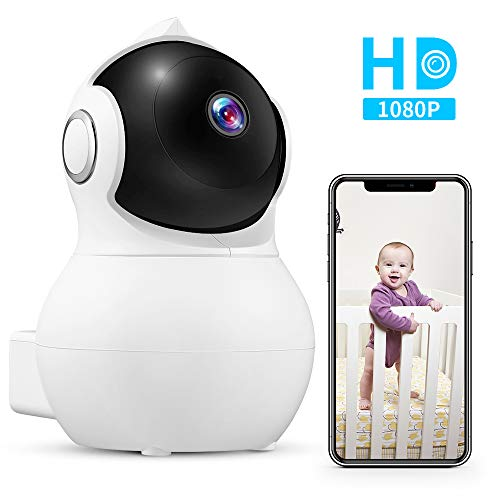 WiFi Baby Monitor, iLifeSmart Long Range 1080P HD Baby Video Monitor Nanny Pet IP Camera with Night Vision, Pan/Tilt, Remote Viewing, Two-Way Audio, Motion Detection