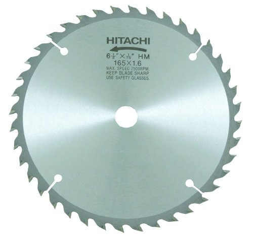 Hitachi 317451 6-1/2-Inch ATB 5/8-Inch Tungsten Carbide Tipped Arbor Finish Saw Blade 40-Teeth (Discontinued by manufacturer)