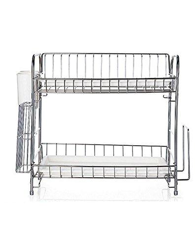 Jm Home 20 Inch 2-tier Dish Drainer Rack Kitchen Utensils St