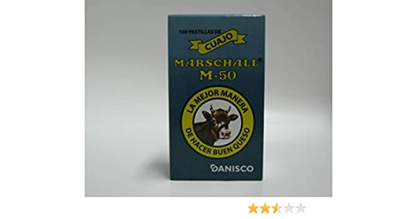 100 Tabletas De Cuajo Marschall 50m Para Hacer Queso