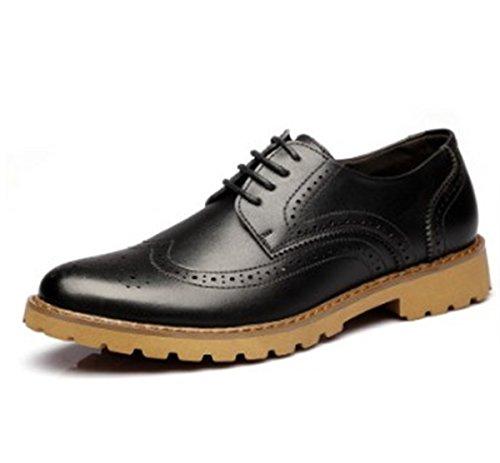 Bininbox Menns Moderne Oxford Vingespiss Mote Sneaker Tilfeldige Sko  Carving Svart