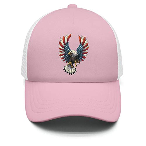 - Zpnew Bald Eagle American Flag 6 Classic.Vintage Casual Sun Protection Adjustable Baseball Mesh Hat Cap for Boy and Girls