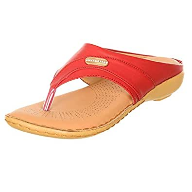 Morganite Thong Sandals for Women - Red
