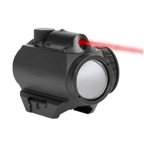 NcStar Vism Micro Green Dot Sight with Integrated Red Laser, Black