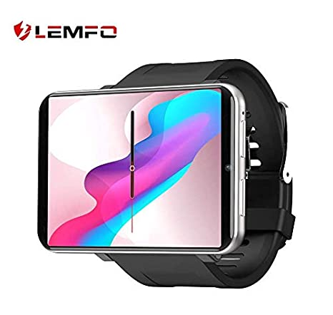 LEMFO LEMT Smartphone Smartwatch 4G with SIM Card and Many More Software, Android 7.1 System (Silver)