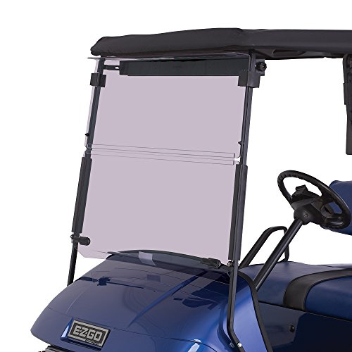 EZGO TXT 1995-2013 Tinted Fold Down Impact Resistant Windshield for EZGO TXT Golf Cart – INSTALLS & UNINSTALLS in Minutes!