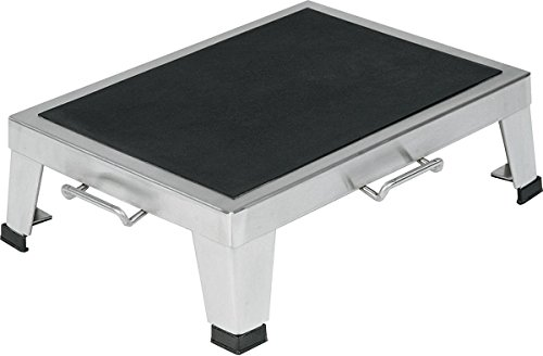 Pedigo Products Inc Stainless Steel Footstool,Stack, 14x19x6, 650lb Wt Cap
