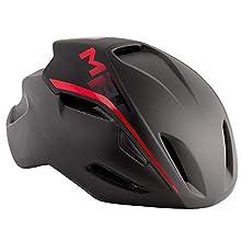 Met Casco Manta M(54-58) Ciclismo, Adultos Unisex, Multicolor (Negro Rojo)