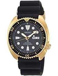 Seiko Mens Prospex Automatic Stainless Steel and Silicone Casual Watch, Color:Black (Model: SRPC44)