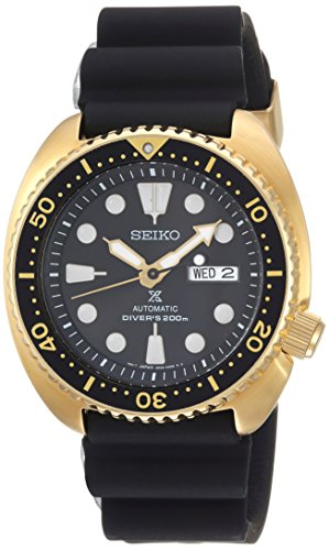 Seiko Men's Prospex Stainless Steel Automatic-self-Wind Watch with Silicone Strap, Black, 21 (Model: SRPC44) ()